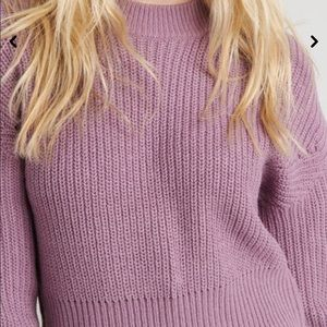 Pointelle knitted sweater